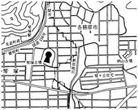 琴塚古墳 周辺図